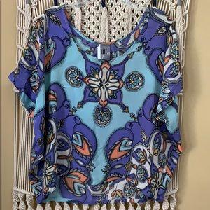 Tiff by TT boho silk blouse